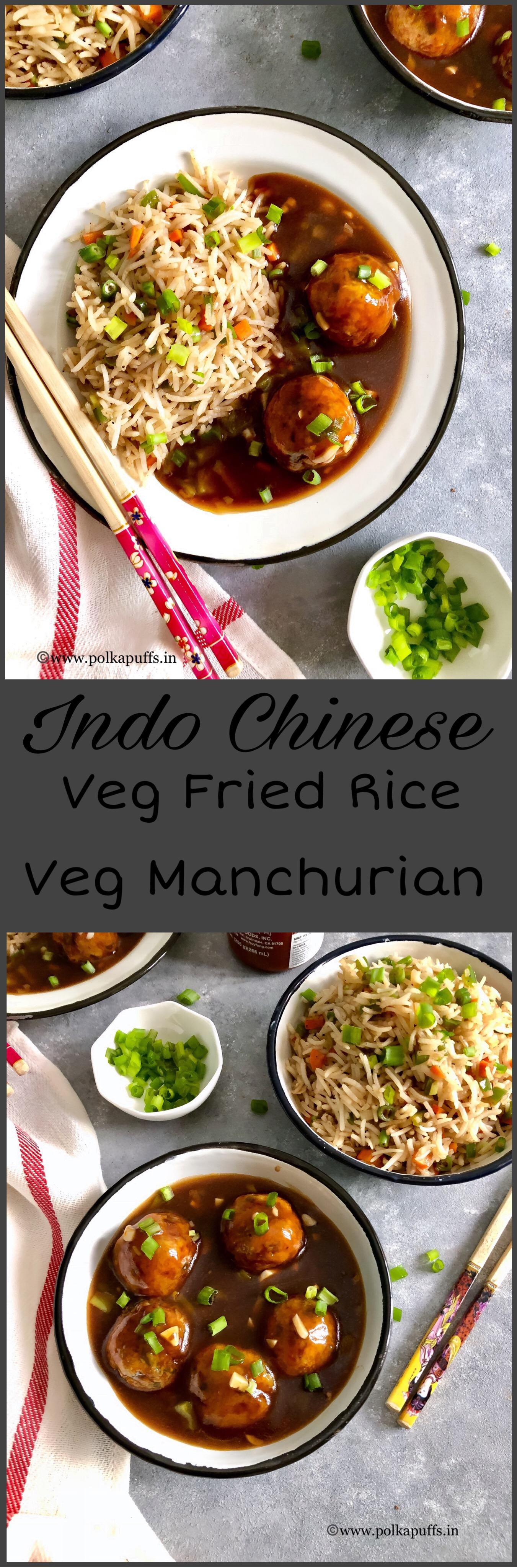 Veg manchurian fried rice pinterest
