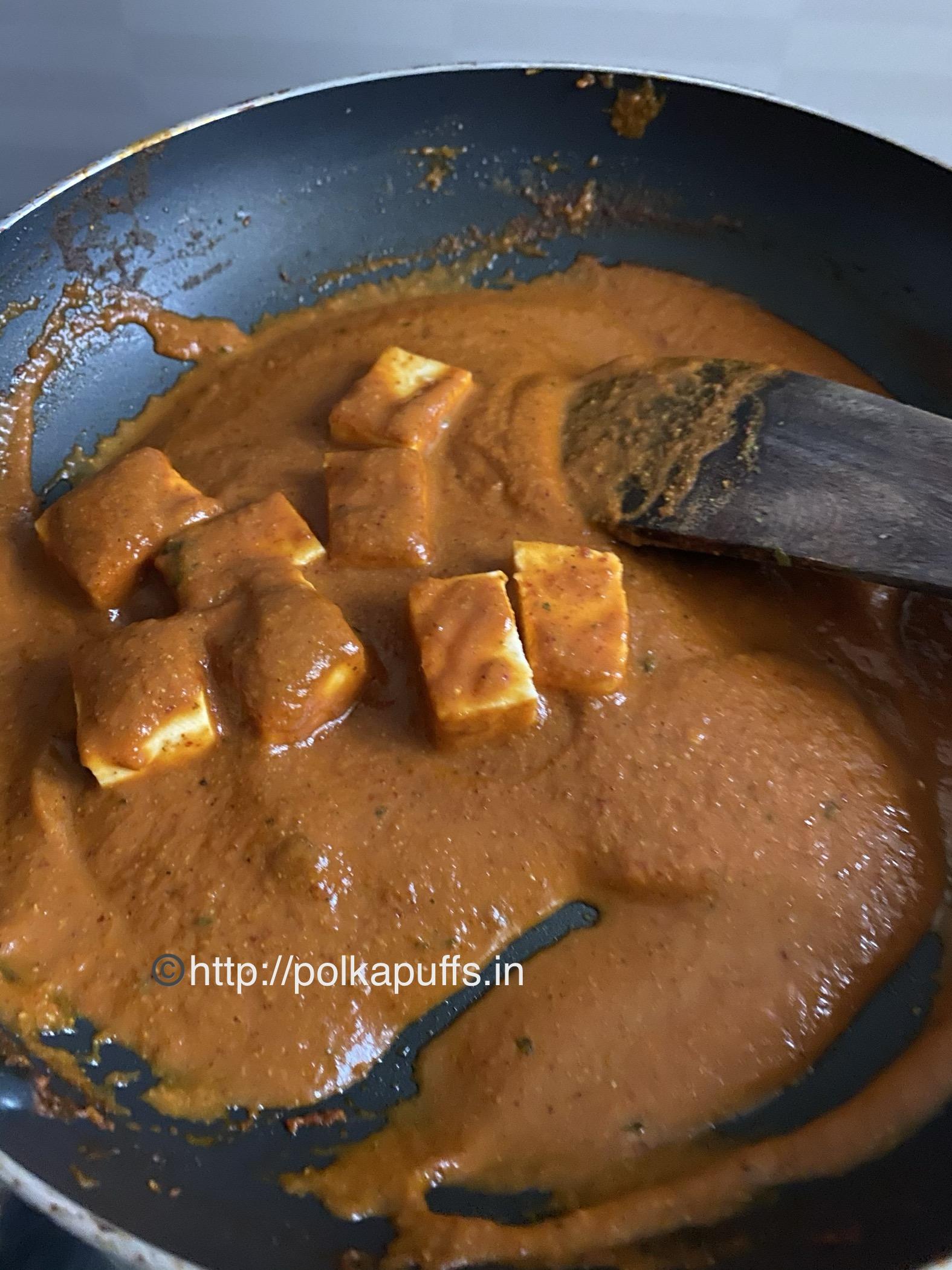 restaurant style shahi paneer prep 7