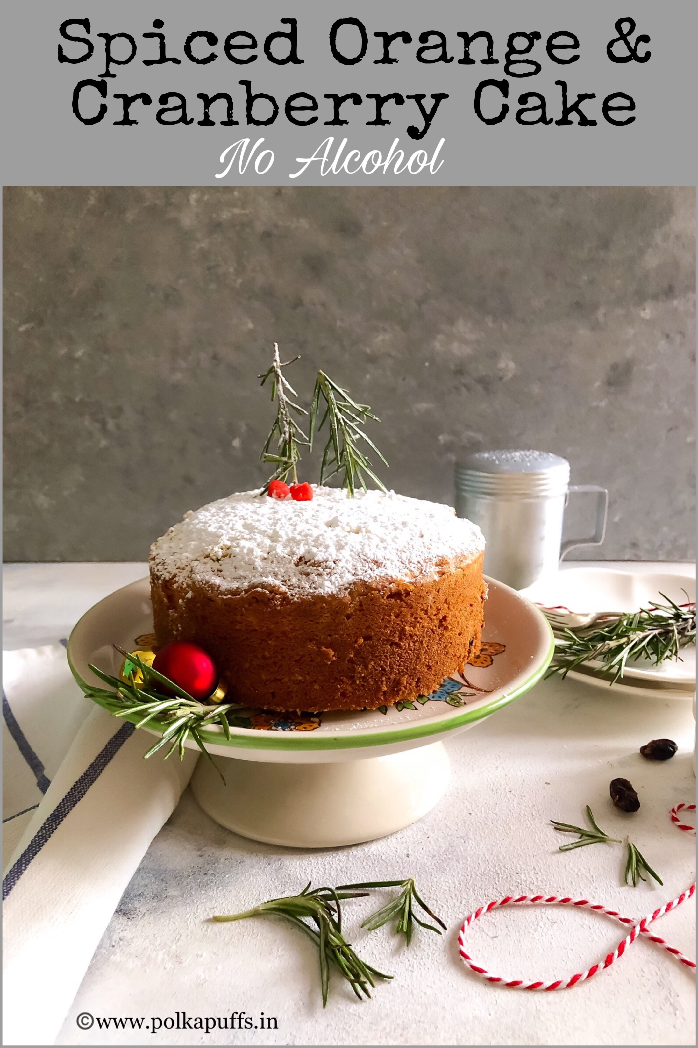 spiced orange cranberry cake pnterest