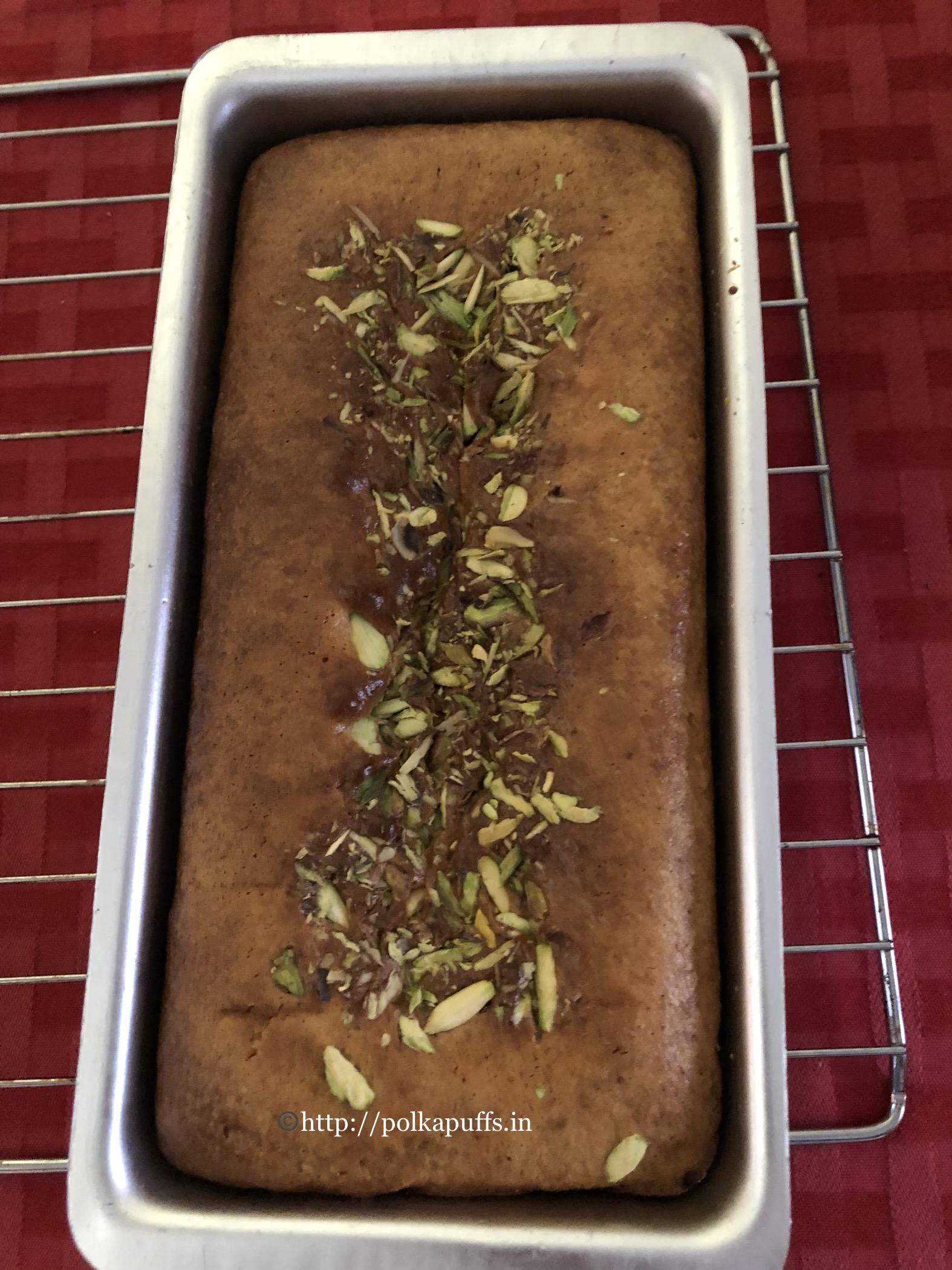 eggless mawa cake process 5