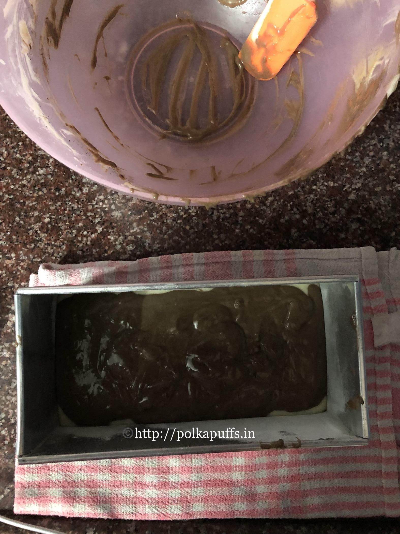 egg less marble cake prep 4