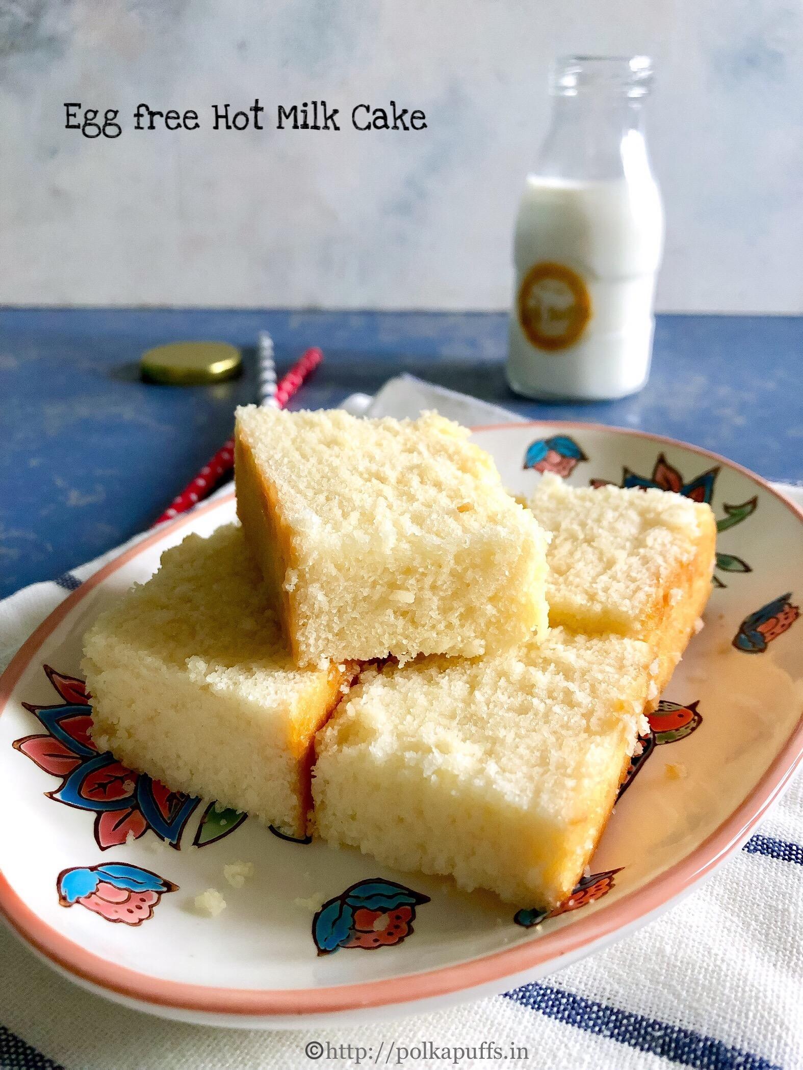 egg free hot milk cake pinterest