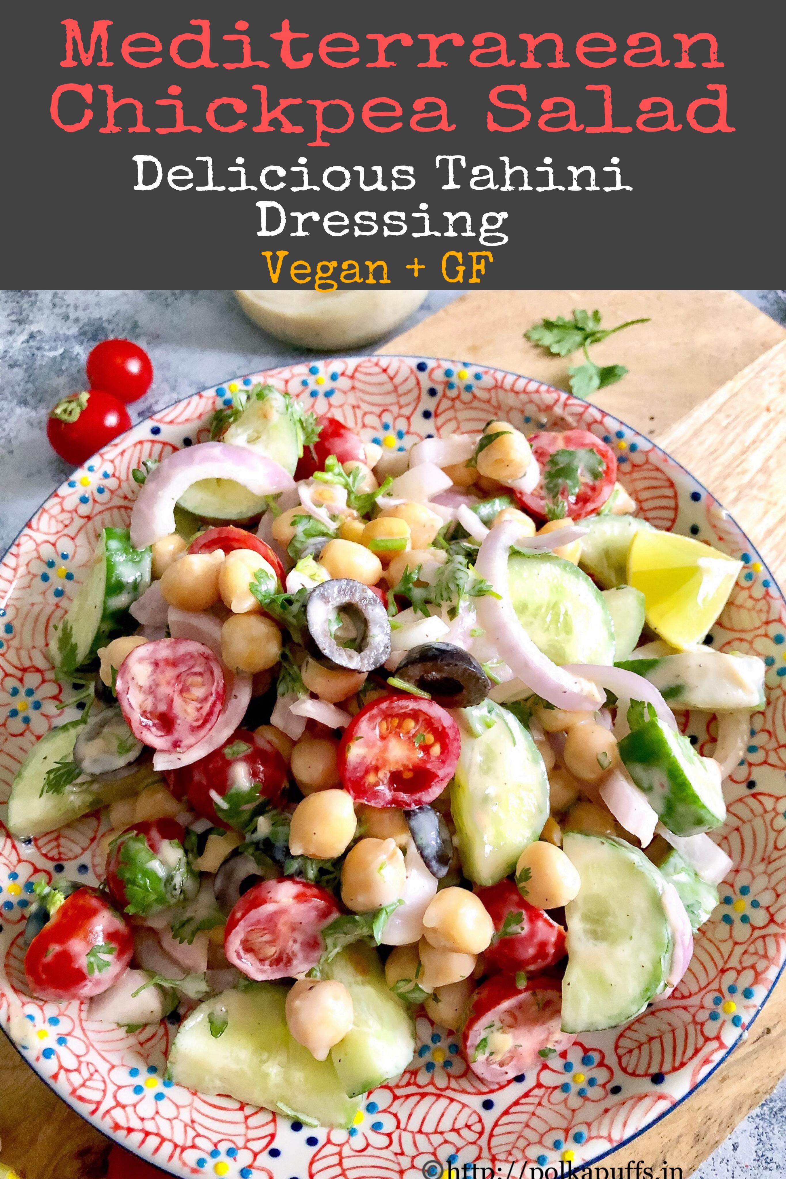 mediterranean Chickpea salad pinterest