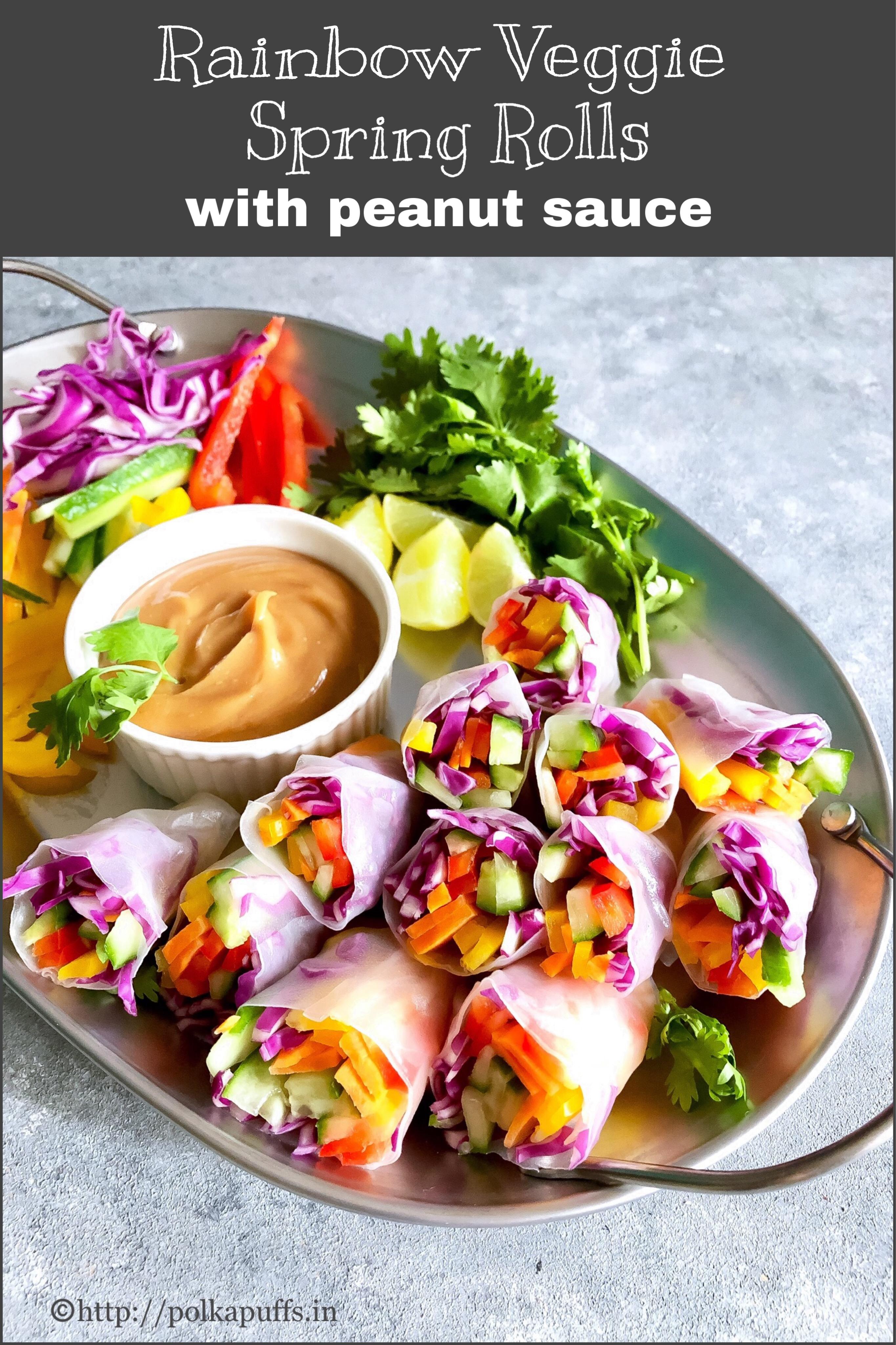 rainbow vegetable spring roll pinterest