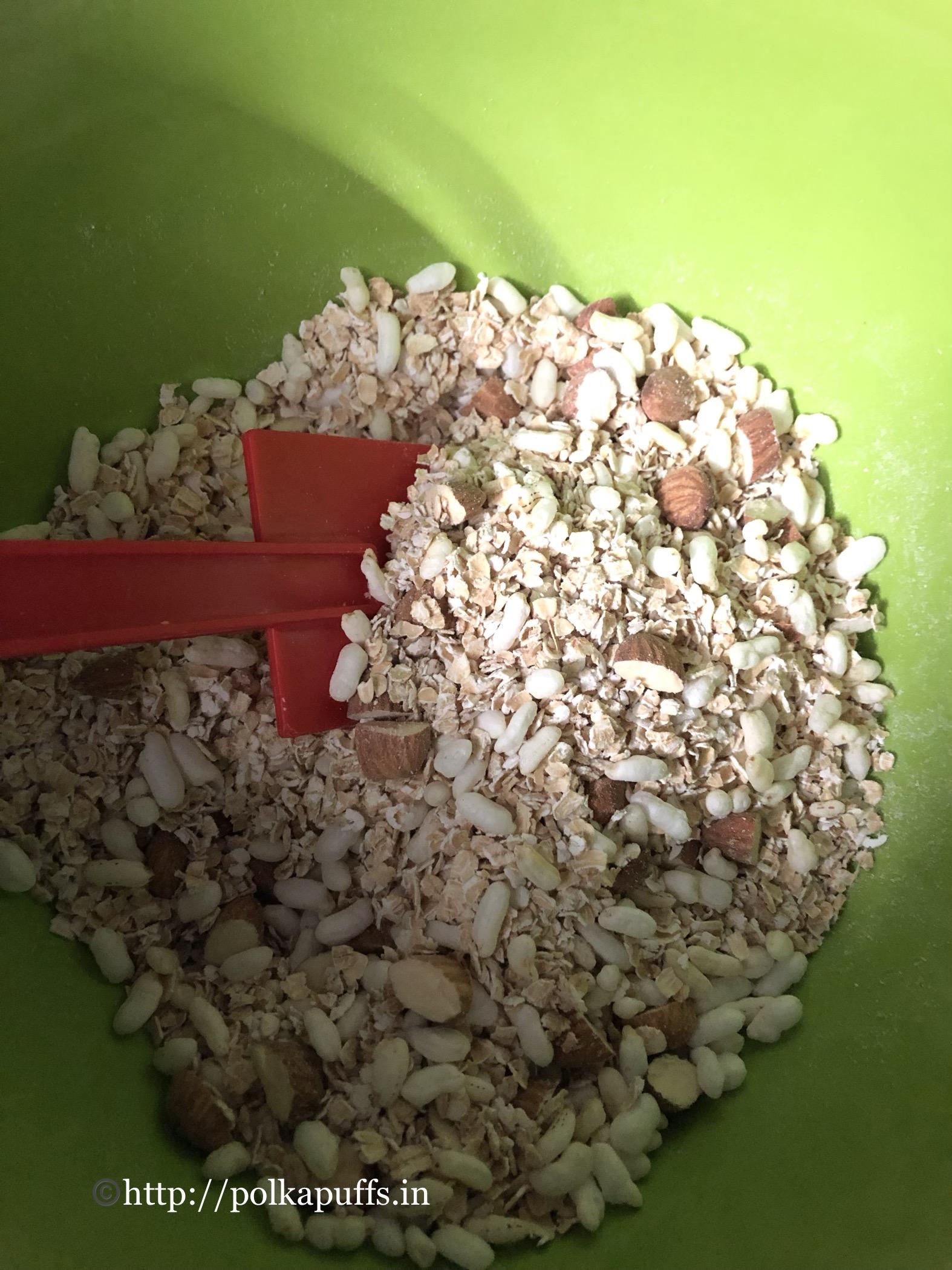 no bake granola bar V & GF prep 1