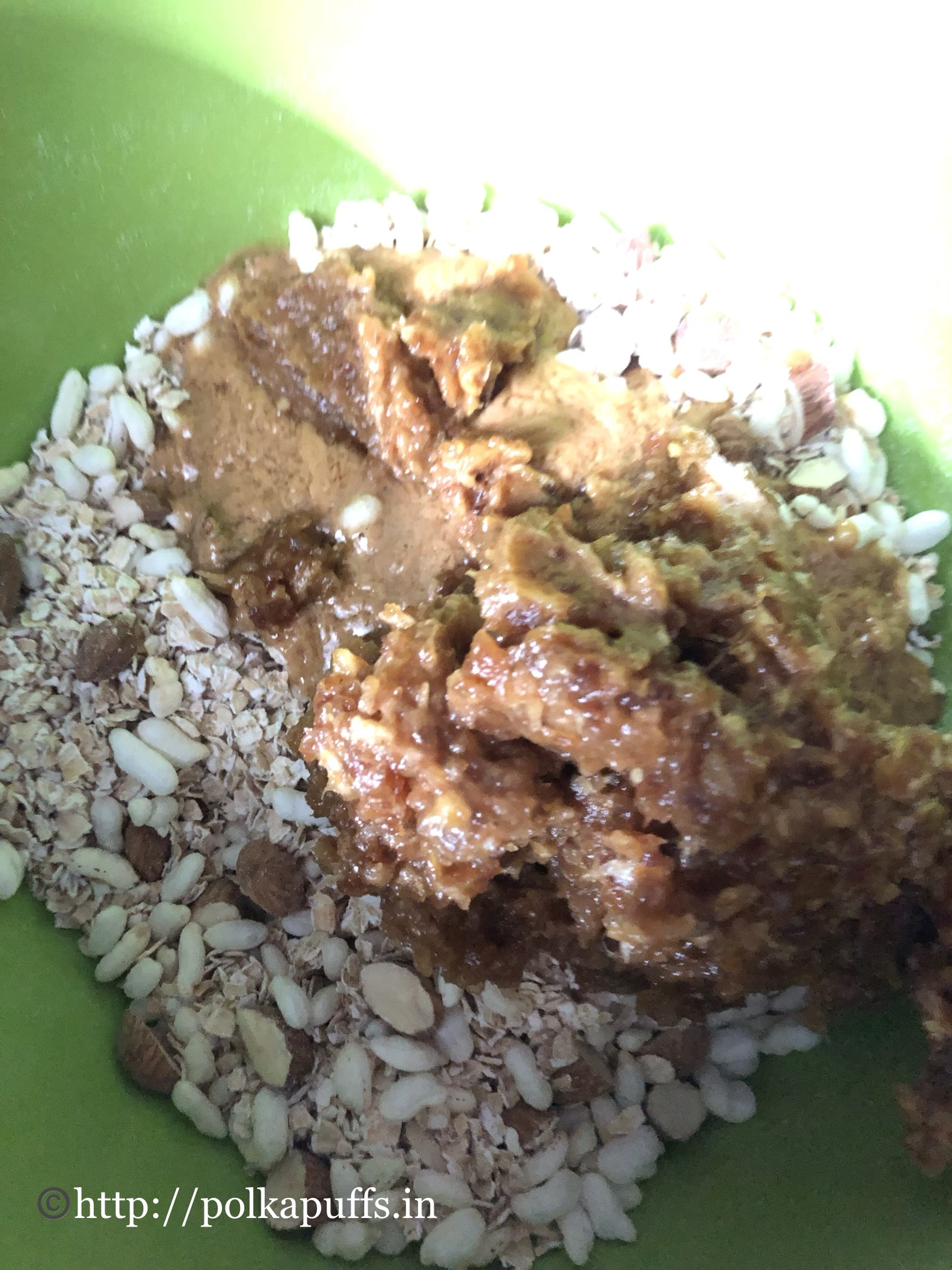no bake granola bar V & GF prep 3