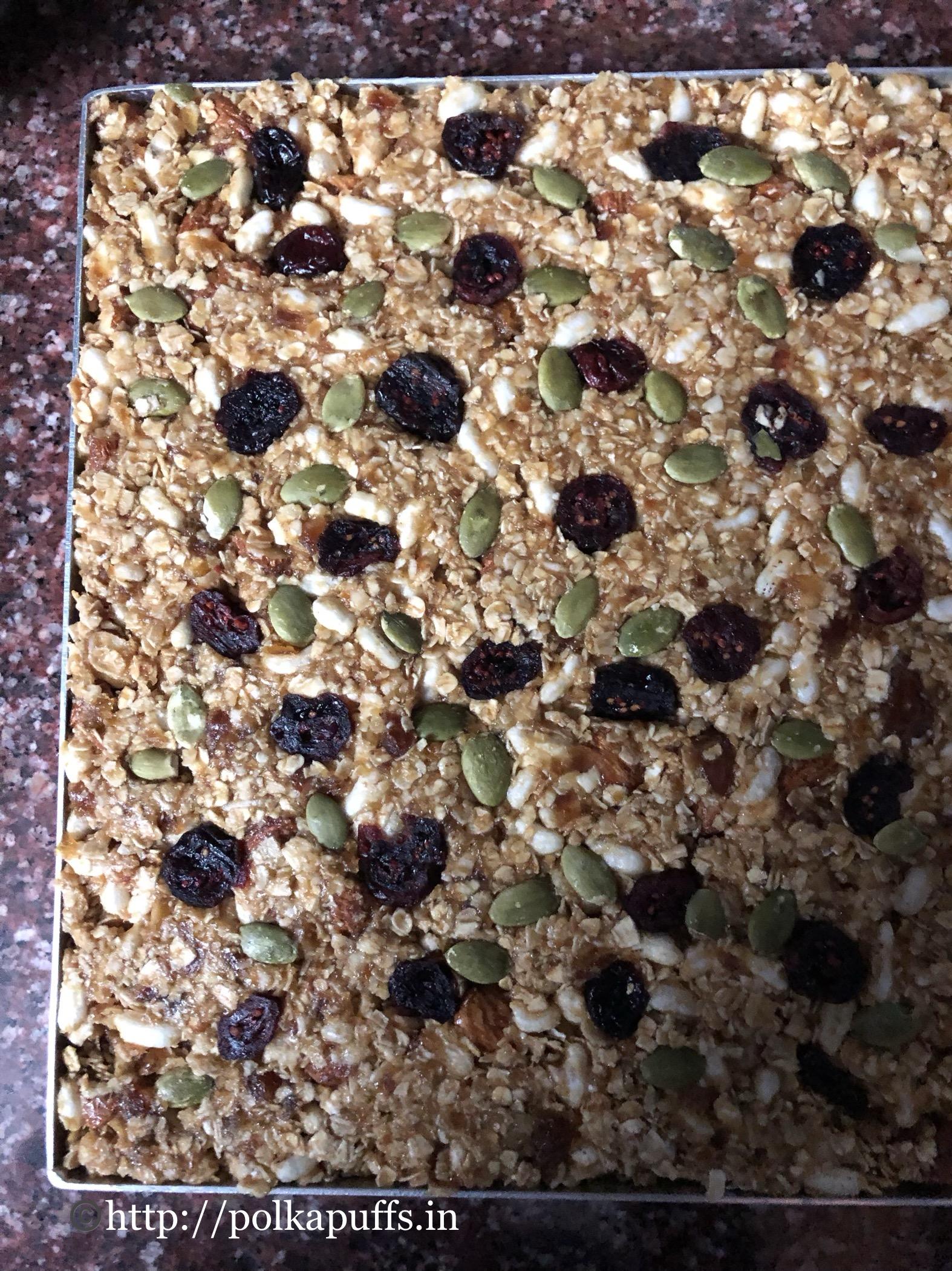 no bake granola bar V & GF prep 4