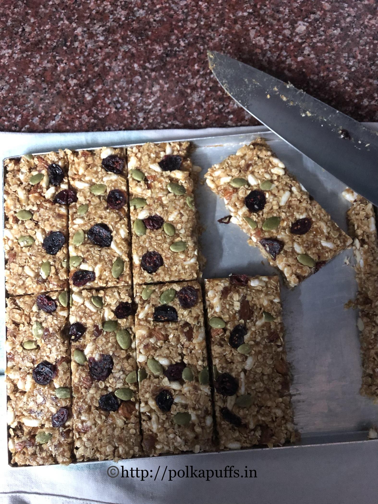 no bake granola bar V & GF prep 5