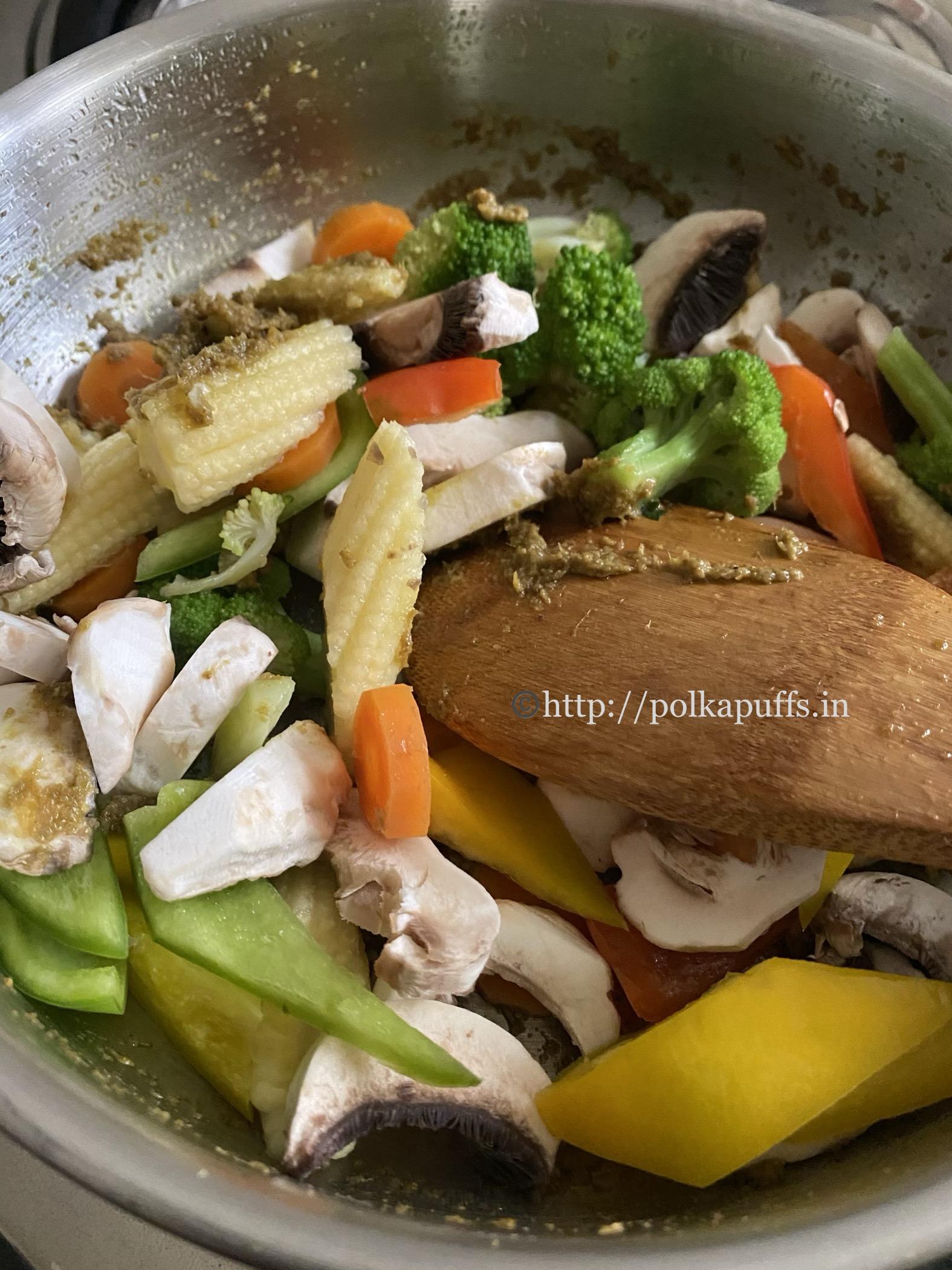 Thai Green Curry vegan prep 6
