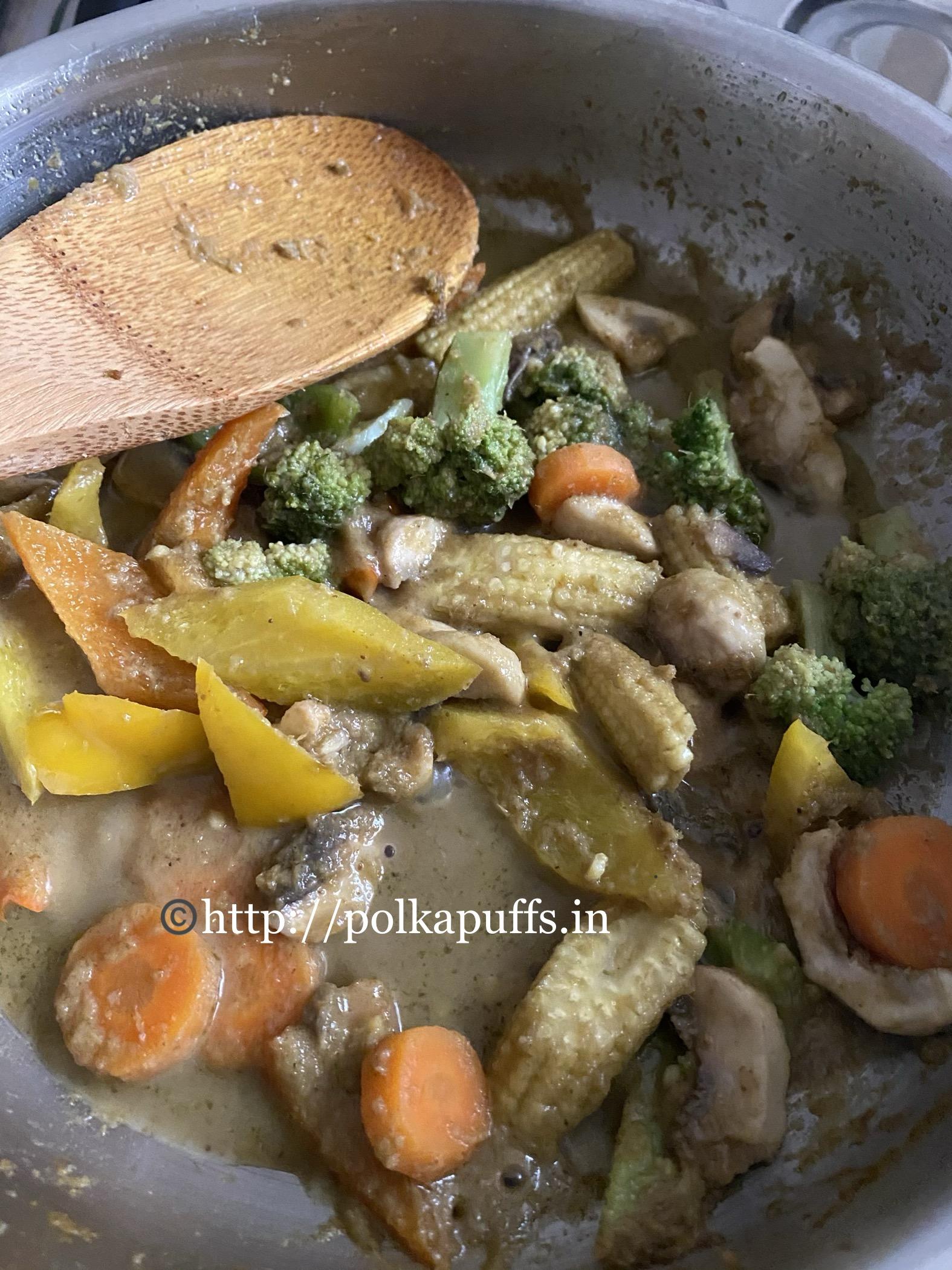 Thai Green Curry vegan prep 7