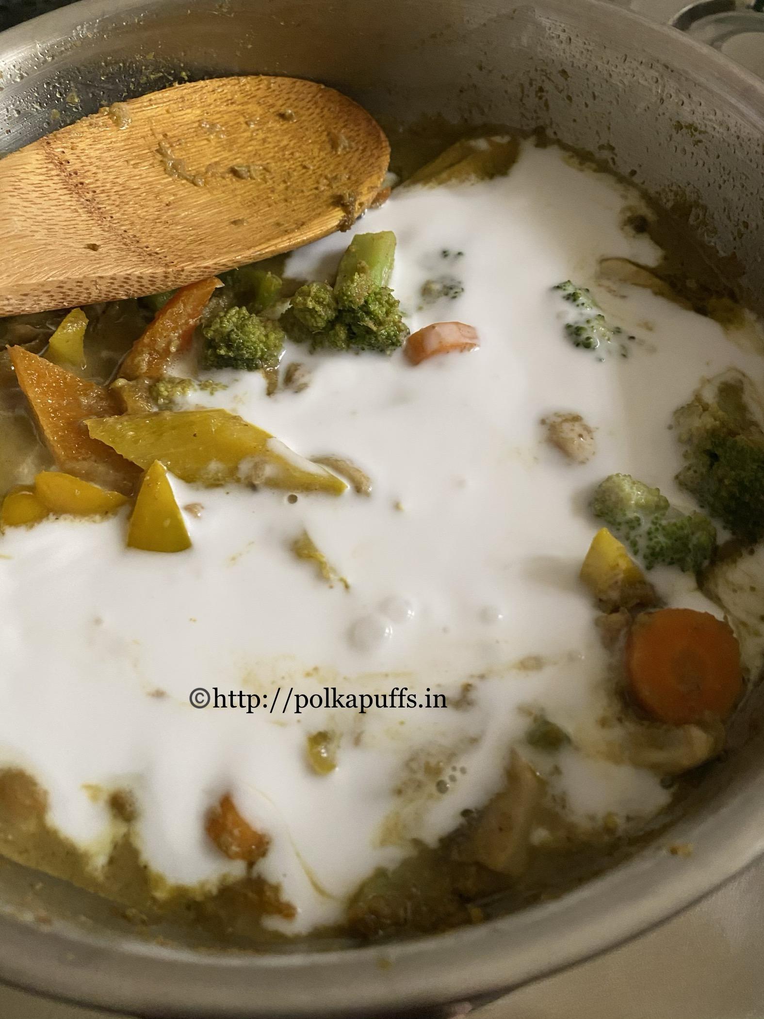 Thai Green Curry vegan prep 8