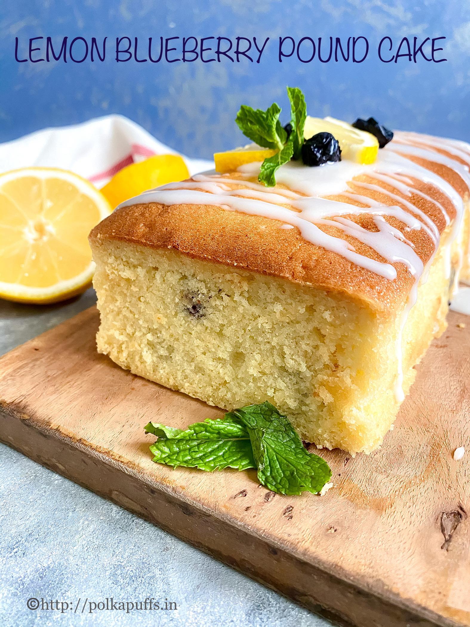 Lemon Blueberry Cake pinterest