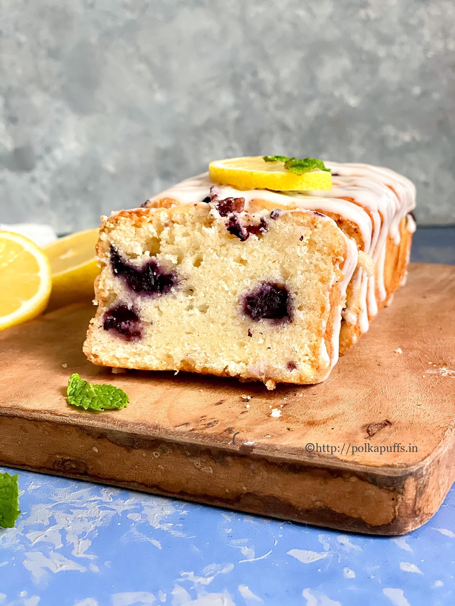 Eggless Lemon Blueberry Cake final 3