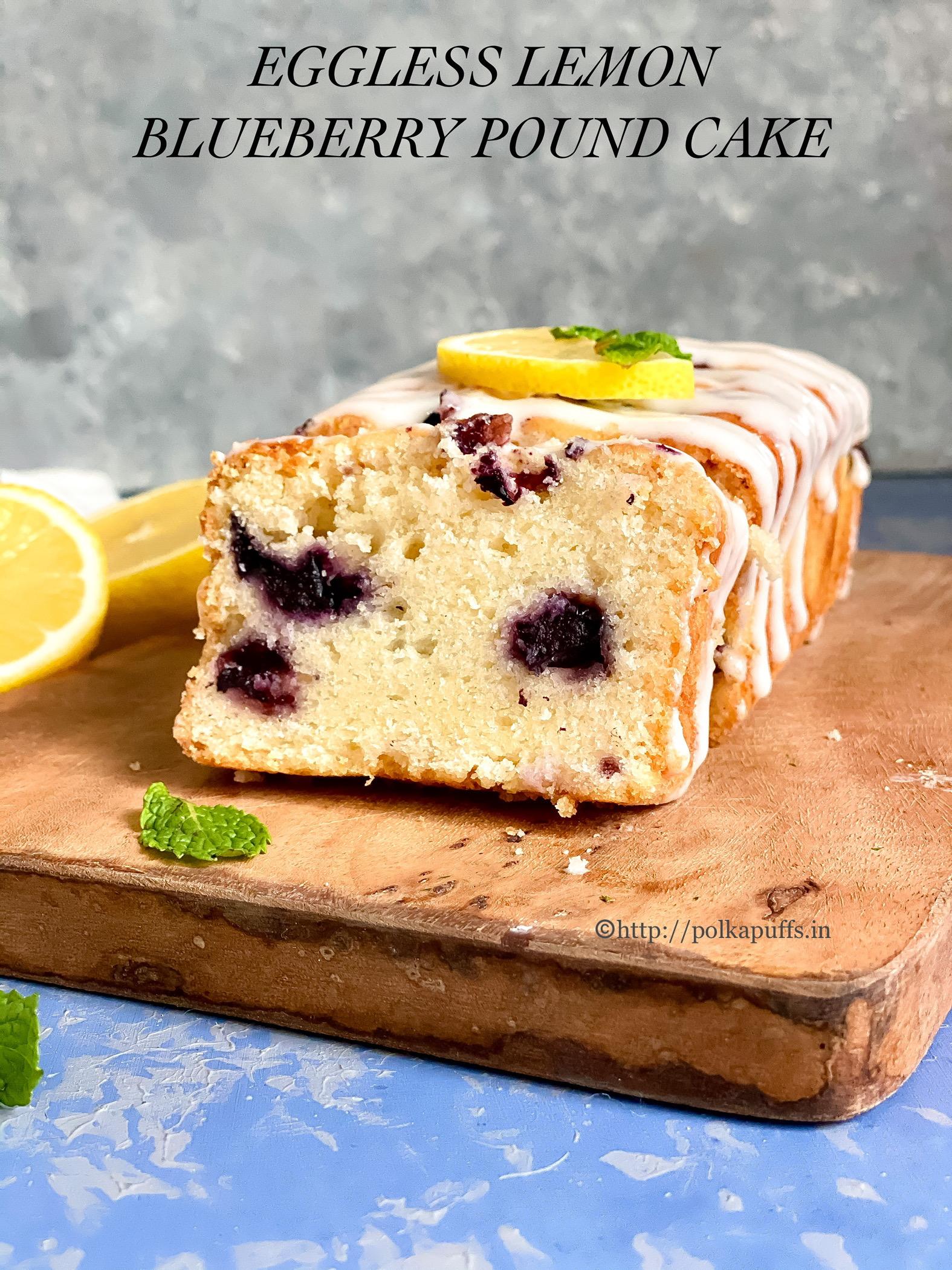 Eggless Lemon Blueberry Cake pinterest