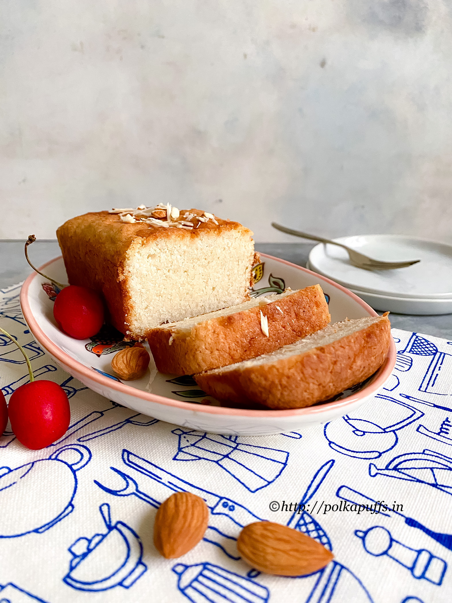 Eggless almond cake final 1