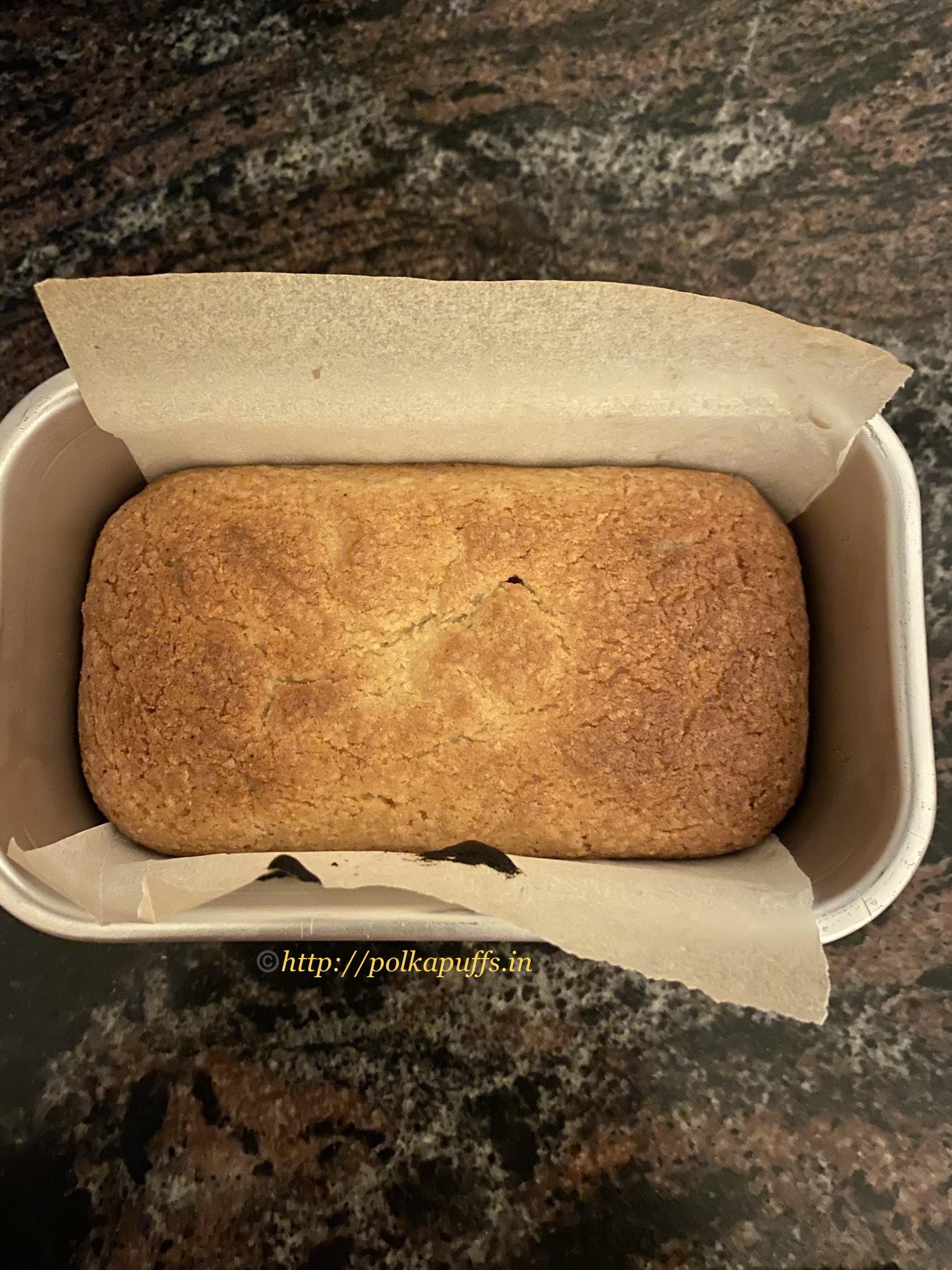Eggless almond cake prep 5
