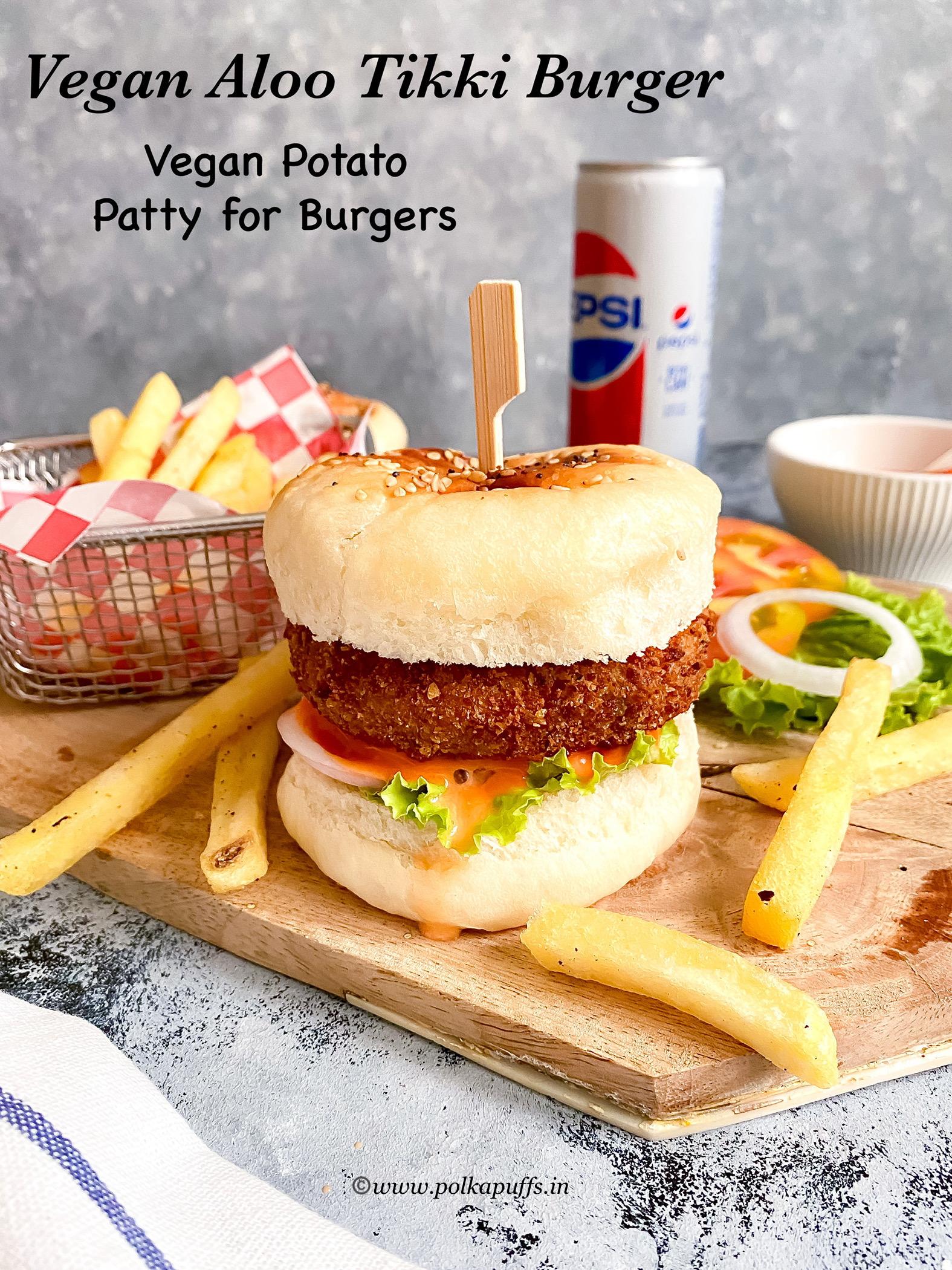 Veg Aloo Tikki Burger pinterest
